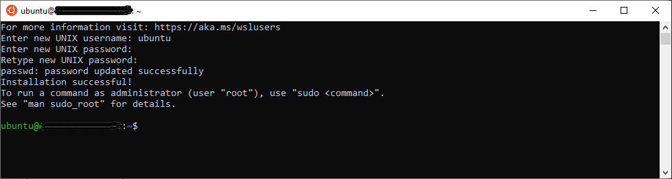 Setup Ubuntu on Windows subsystem for Linux for the first time