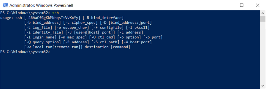 PowerShell Run SSH