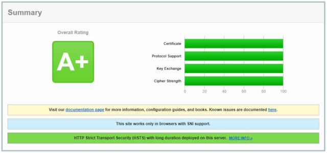 SSL Labs website check